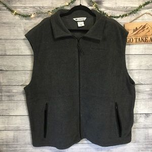 Columbia Jackets & Coats - Columbia Gray Fleece Zipper Vest Sz XXL